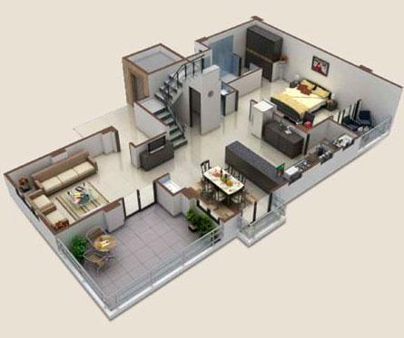 Srajan builders udaipur rajasthan india real estate for 4 bhk house plan ground floor